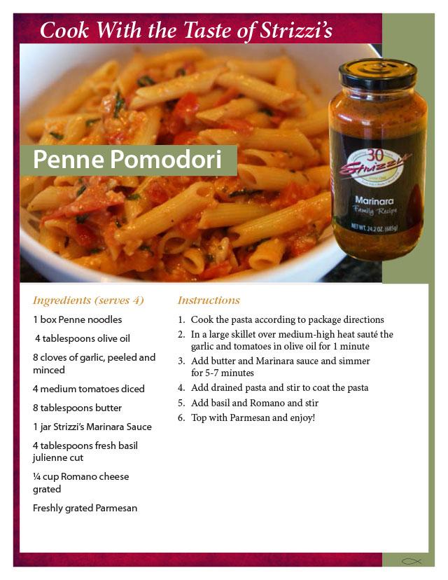 Recipe penne pomodori strizzis recipe penne pomodori forumfinder Image collections